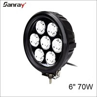 6 inch 70W round 9-32v waterproof spot/flood/combo beam led work light for motorcycle/automotive/offroad light