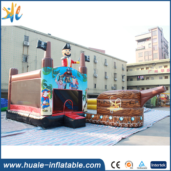 2017 huale inflatable bouncer combo / inflatable bouncer with silde