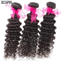 Fashion black hair weave African American virgin mongolian kinky curly hair