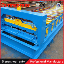 PPGI Coil Roll Forming Machine Four High Ribs Color Coated Steel Roof Tile Roll Making Machine