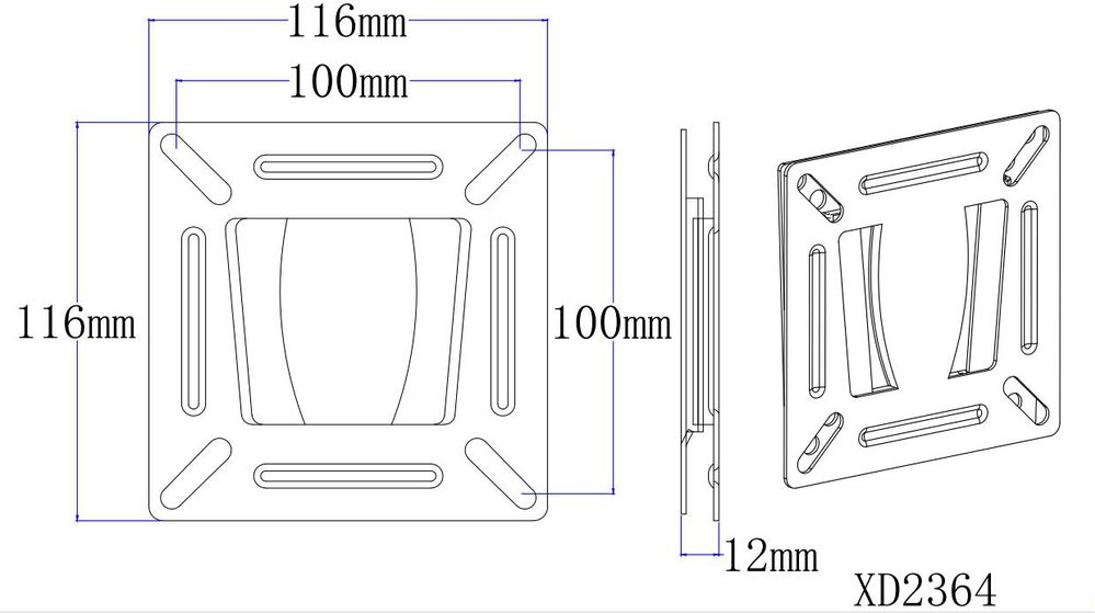 Mounting Dream Low profile wall mounts Fixed TV mounts XD2364 fits for 10-26'' plasma/ monitor/LED/OLED TV High quality