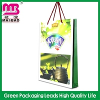 recyclable material custom bling bling gift paper bag