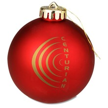 Top Quality Round Christmas Ornaments Advertising Holiday Glass Ornament