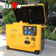 BISON(CHINA) 2017 New Brands 5 kw 5000 Watt Copper Wire Silent Power Diesel Generator Factory