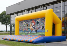 Hot-selling attactive inflatable soccer goal post
