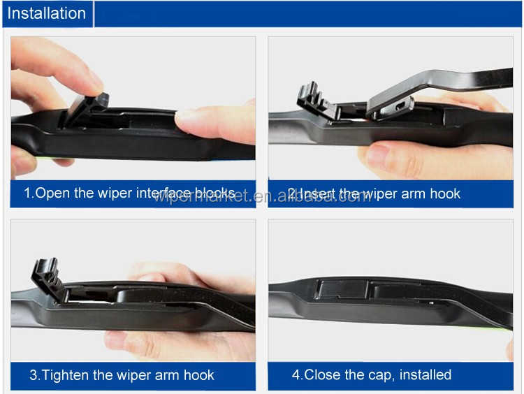Auto Cars Windshield Brush Universal Hybrid Wiper Blade With Clear View
