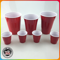 2oz 12oz 14oz 16oz 18oz Plastic Solo Red Beer Pong Cups