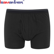 Hot sell oem fashion style breathable black underwear men boxer briefs