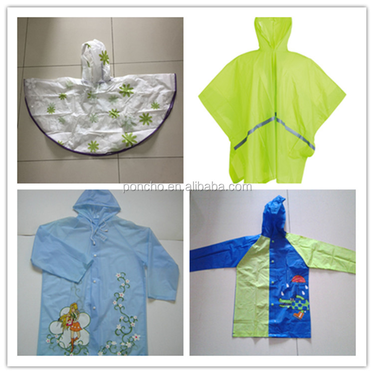 waterproof vinyl children raincoat