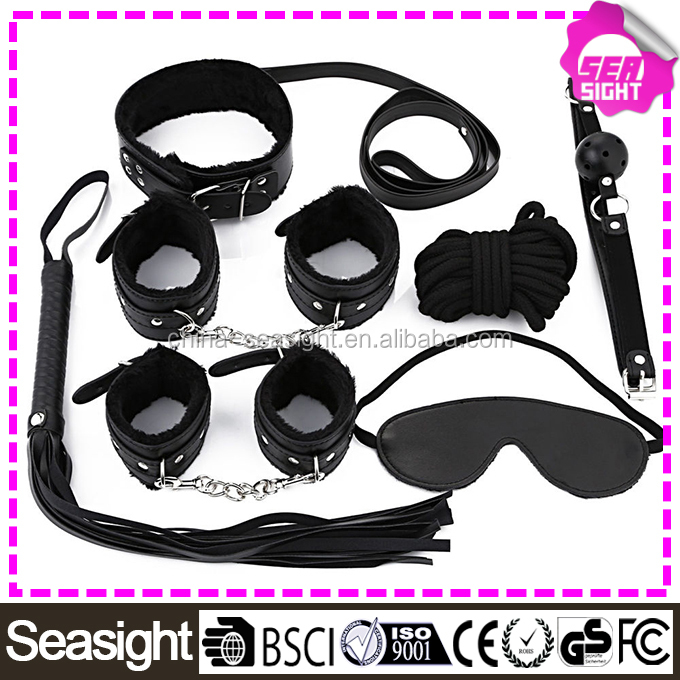 7PCS Adult Cosplay SM Handcuffs Fantasy wild sex toys for women