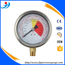100mm oil filled pressure gauge of all ss type / back type/ CE certificate