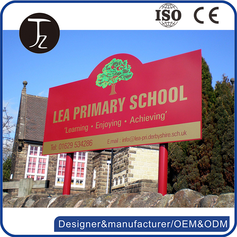 Customized school advertising board stand outdoor advertising signs
