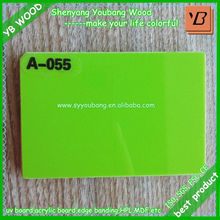 sparkle color uv coated board/fire rated mdf board
