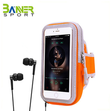 Running armband belt for cell phone waterproof phone zipper pouch workout phone holder pocket