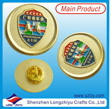 2013 Newest Custom Enamel Car Badges,Classic Round Car Badges,Car Emblems Pin With Gold Plated