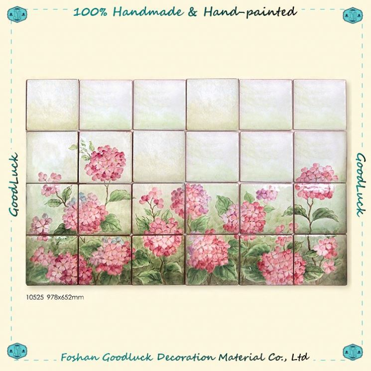 Hydrangea Pattern Artificial Flower Hotel Lobby Banquet Hall Wall Decoration