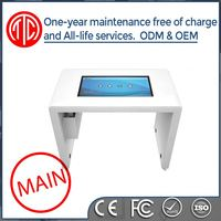Water proofed lcd standing indoor touch kiosk table