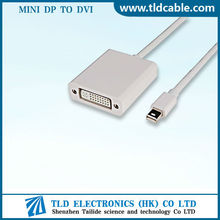 Mini Display Port DP to DVI Adapter Cable For Microsoft White