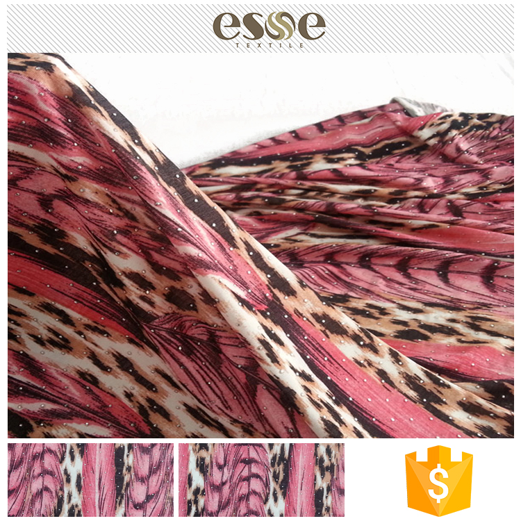 FDY printing cheap women polyester textile and garment