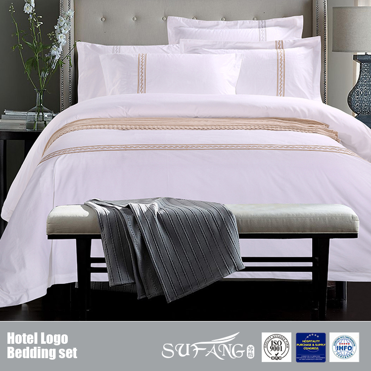 Wholesale hotel bedding manufacturer 100 cotton bedding for Luxury hotel 750 collection sheets