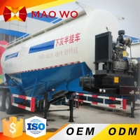 MAOWO 55 Cubic Meter used Tri-axle Bulk Cement semi Trailer For Sale