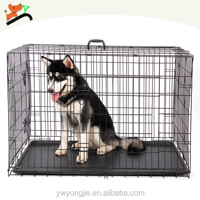 Black Wire Indoor Pet Cage Multi-size Heavry Dog Cage With Tray
