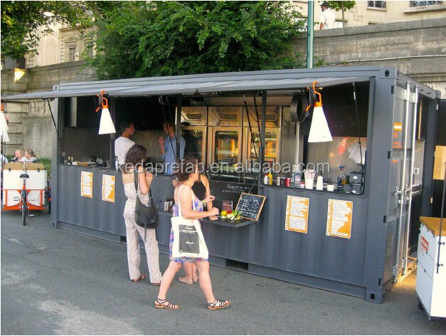 Demountable Prefabricated Container House Grocery Store / Shop Kiosk