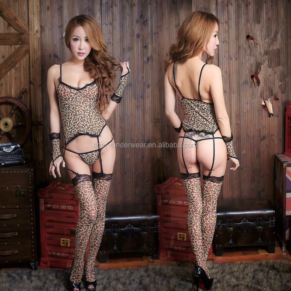 sexy leopard bondage lingerie for women hot sexy animal lingerie plus size 2016