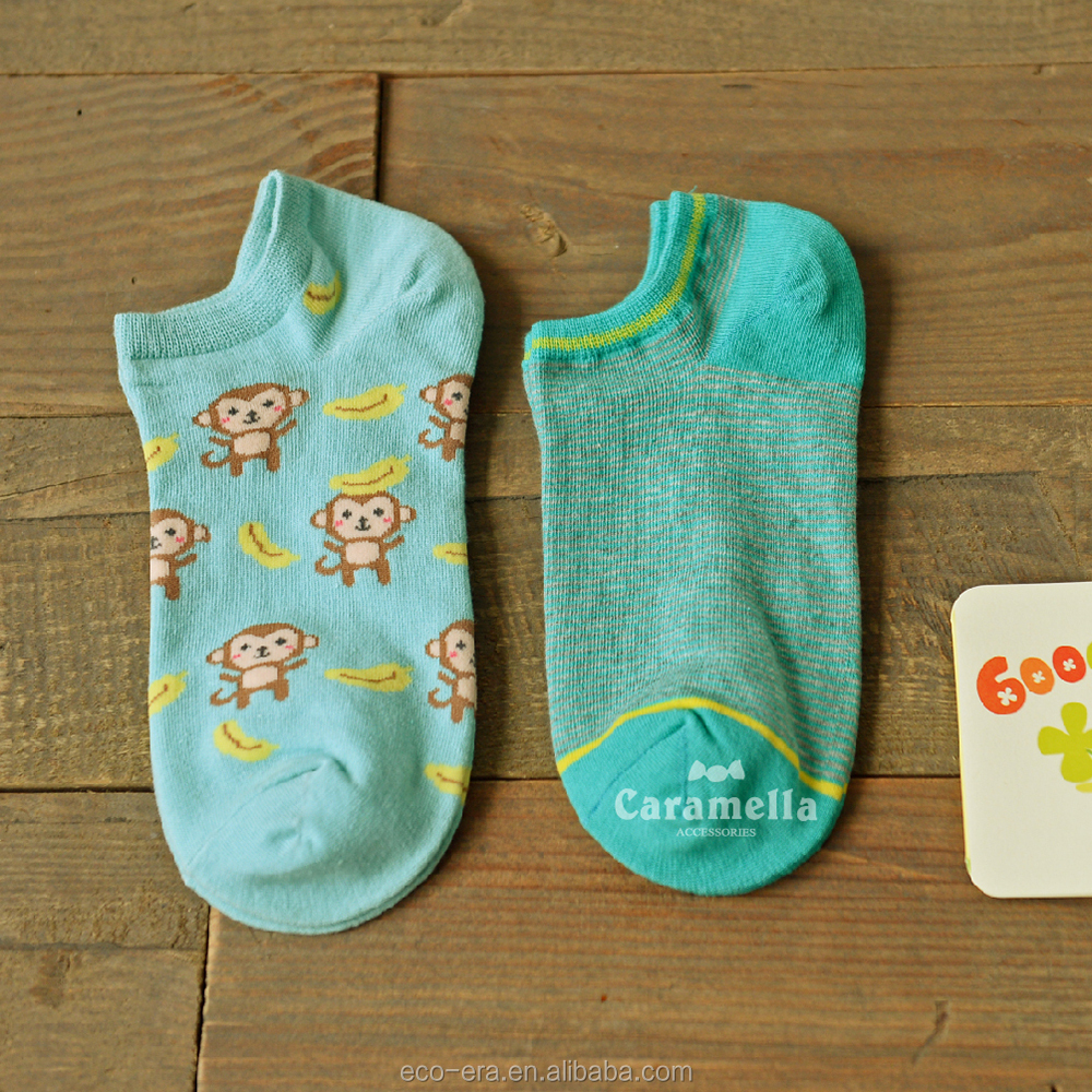 Hot Sale 100% Cotton Cartoon Socks For Girls Child Tube Sock