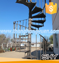 Outdoor Fancy Cast Iron Used Spiral Staircase Design