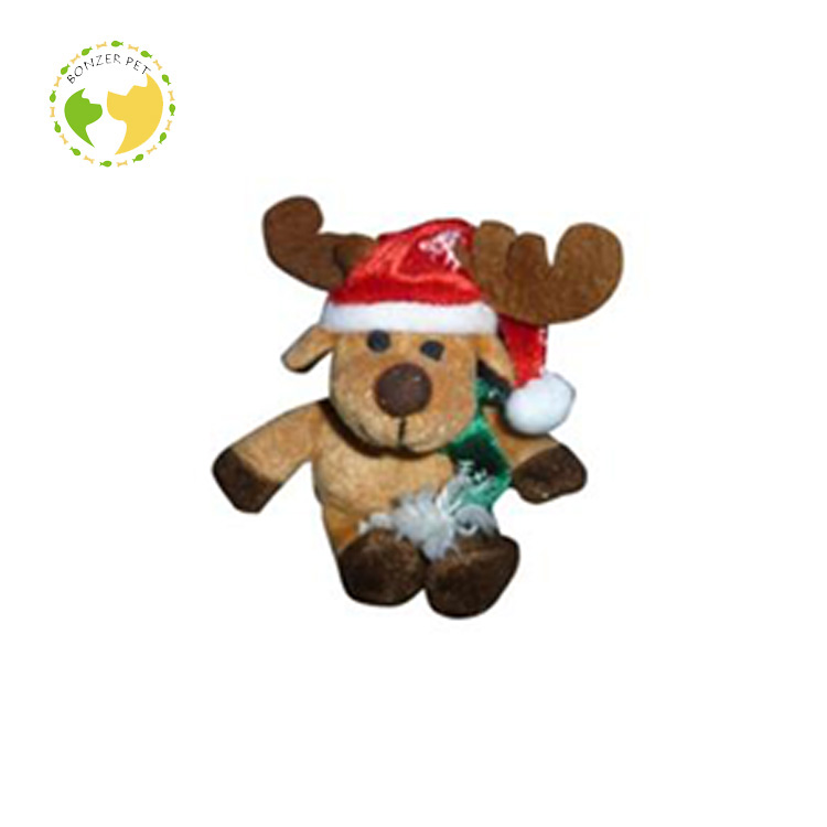 Soft Plush Christmas Moose Dog Toy