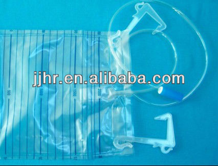 cross valve urine bag with hanger