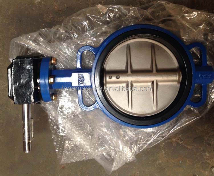 DIN standard Cast iron wafer ends butterfly valve pn10 dn150 with gear operated