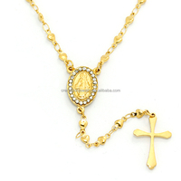 beads Necklace gold chains gold Fashion Jewelry Rosary stainless steel new gold chain design for men