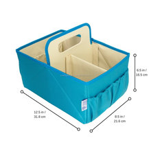 Foldable Baby Diaper Blue Caddy Organizer Baby Mummy Bag