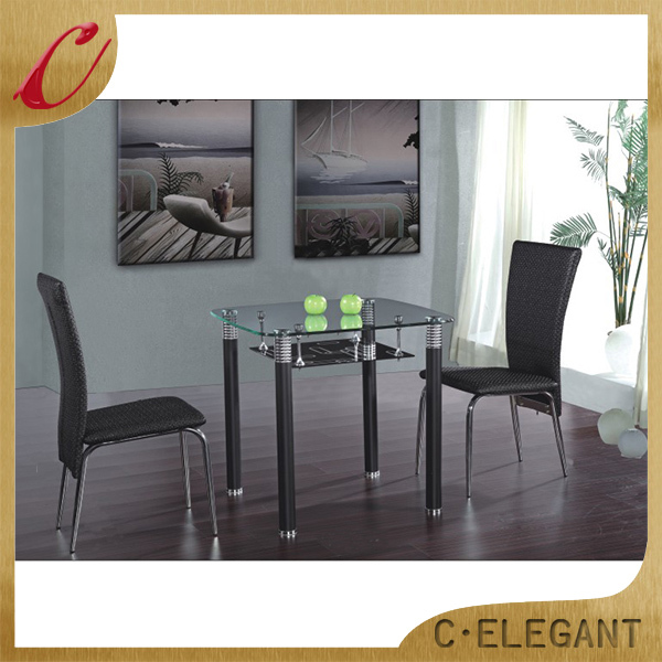 Factory price perspex dining table and chairs