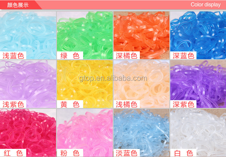 small size clear color Elastic TPU Rubber Bands kids Hair Band 8024
