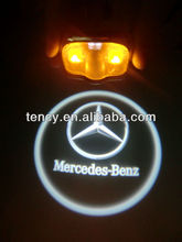 No Drill Hole, with wires connect ,Car Door LED Welcome Light, LED Ghost Courtesy Light(KF-3D-NH) for Mercedes-Benz