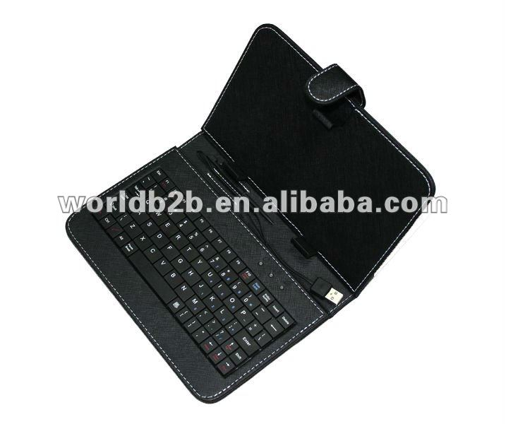 "7 inch Universal Keyboard PU Leather Case for 7inch MID,Tablet PC with Stand,8"" & 10"" case aslo available"