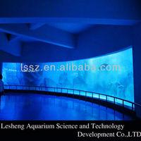 Custom high quality curve ultra clear glass fish tank