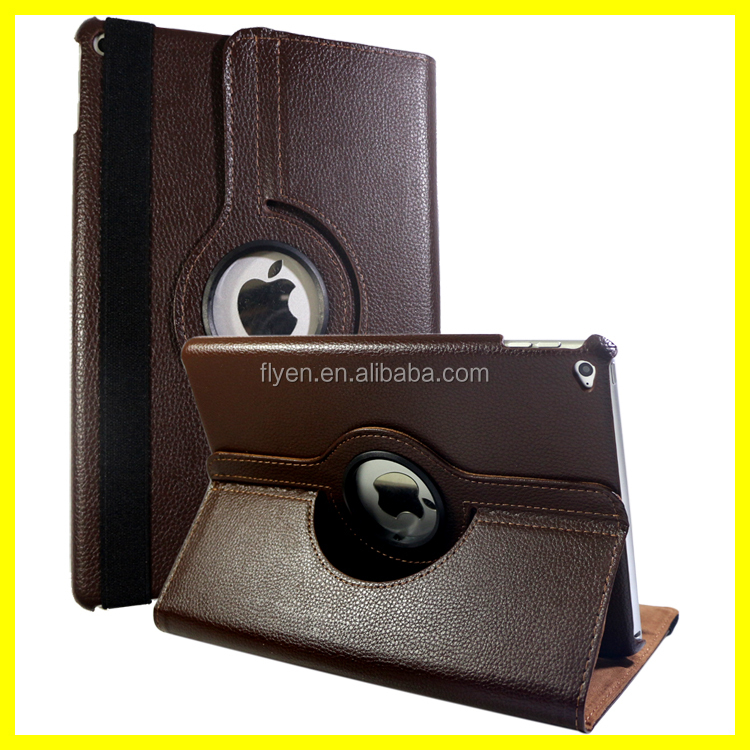 Synthetics 360 Leather Case for iPad Air 2 Magnetic Rotating Flip Folio Leather Cases for Apple iPad Air 2 Smart Cover