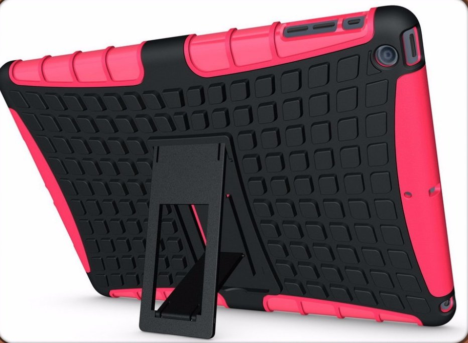 8 Colors Available Hybrid Heavy Duty Stand Cover Case For Apple for iPad 5/ Air Shockproof Tablet Case With Kickstand