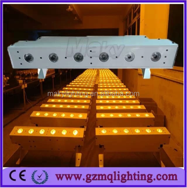 guangzhou led up light/sute stage light 6*18W 6IN1 rgbwa+uv dmx wedding up lighting