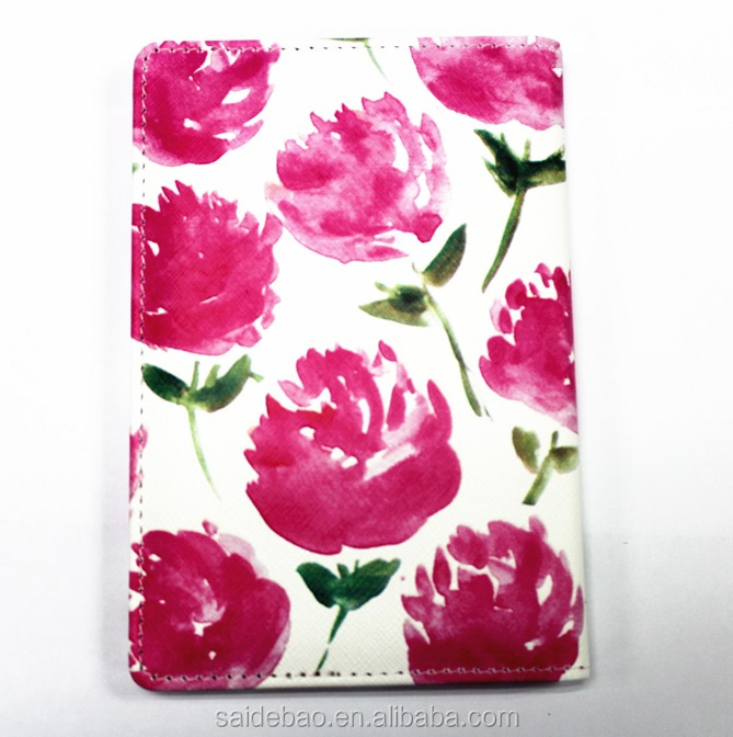 2018 80 white pages flower red notebook,a5 colorful notebook
