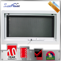 Australia standard AS2047 double layer glass awning window with obscure glass