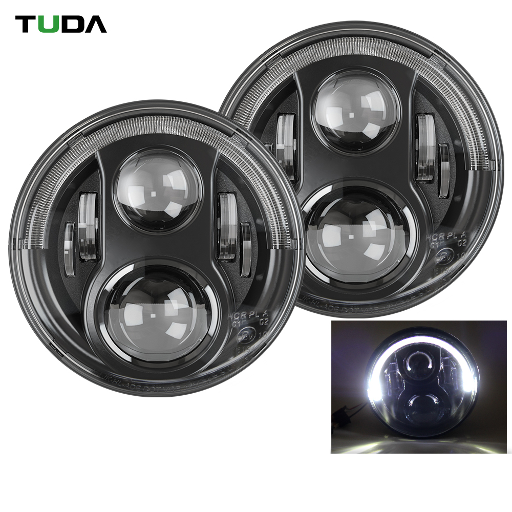 New Waterproof Aluminum Housing Drl Offroad Led Driving Lights, Jeep Wrangler Car Led 7 Inch Headlight