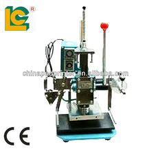 Manual letters gold foil stamping leather logo embossing machine