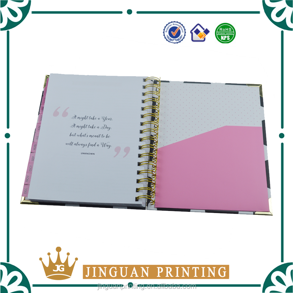 Custom High Quality Printed 2016 Agenda Organizer Planner