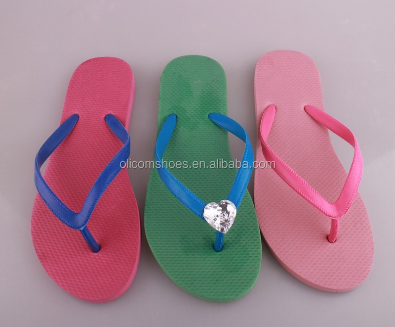 EVA+Rubber brazil flip flops,ladies wedding flip flops,custom printed flip flops