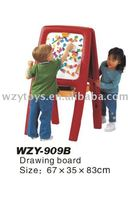Plastic children easel for two drawing